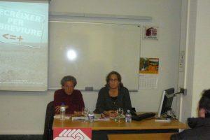 Alicante: imágenes de la charla de Pepa Gisbert «decréixer per sobreviure»