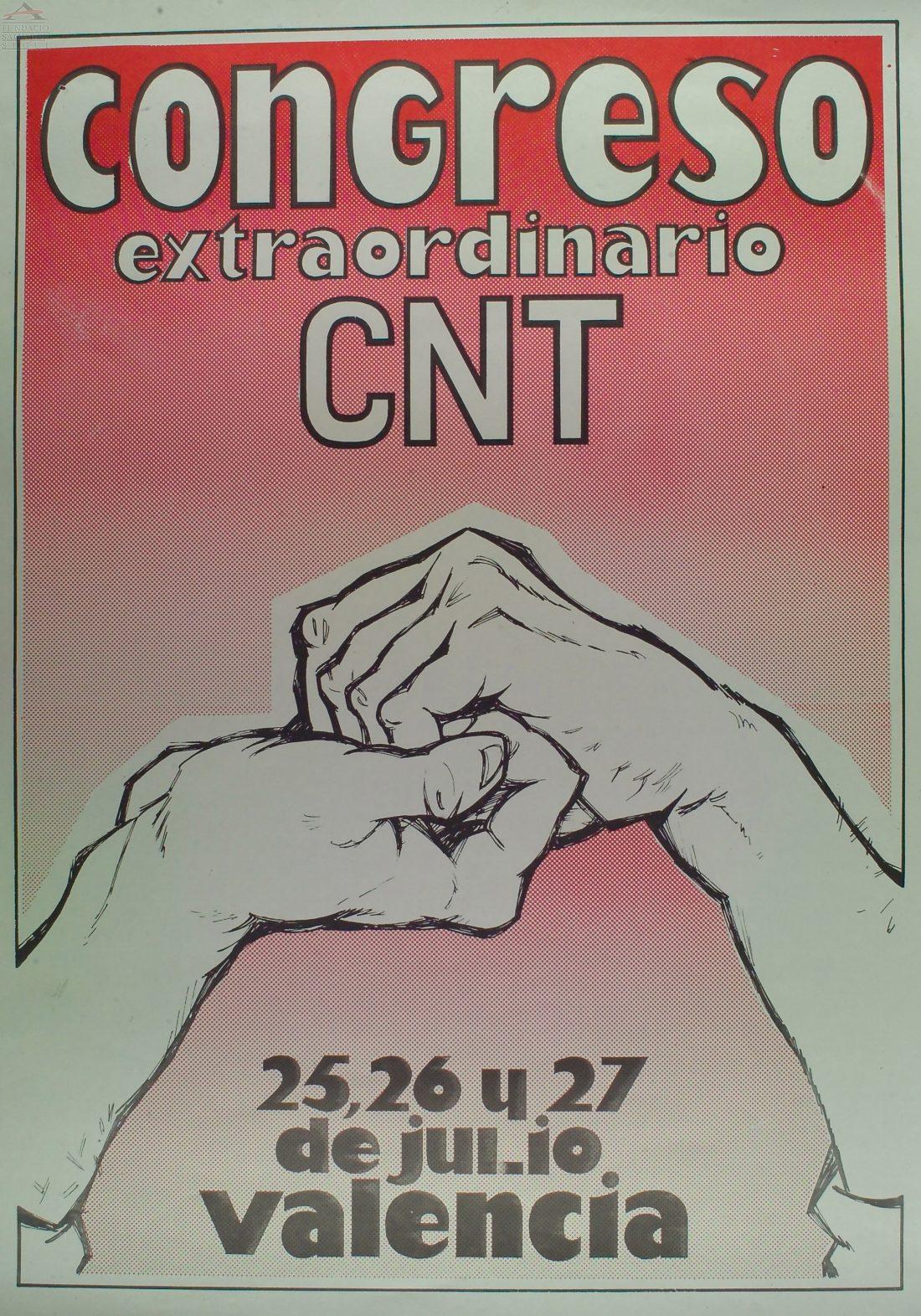 Cartel VI Congreso Extraordinario CNT (Valencia 1980)