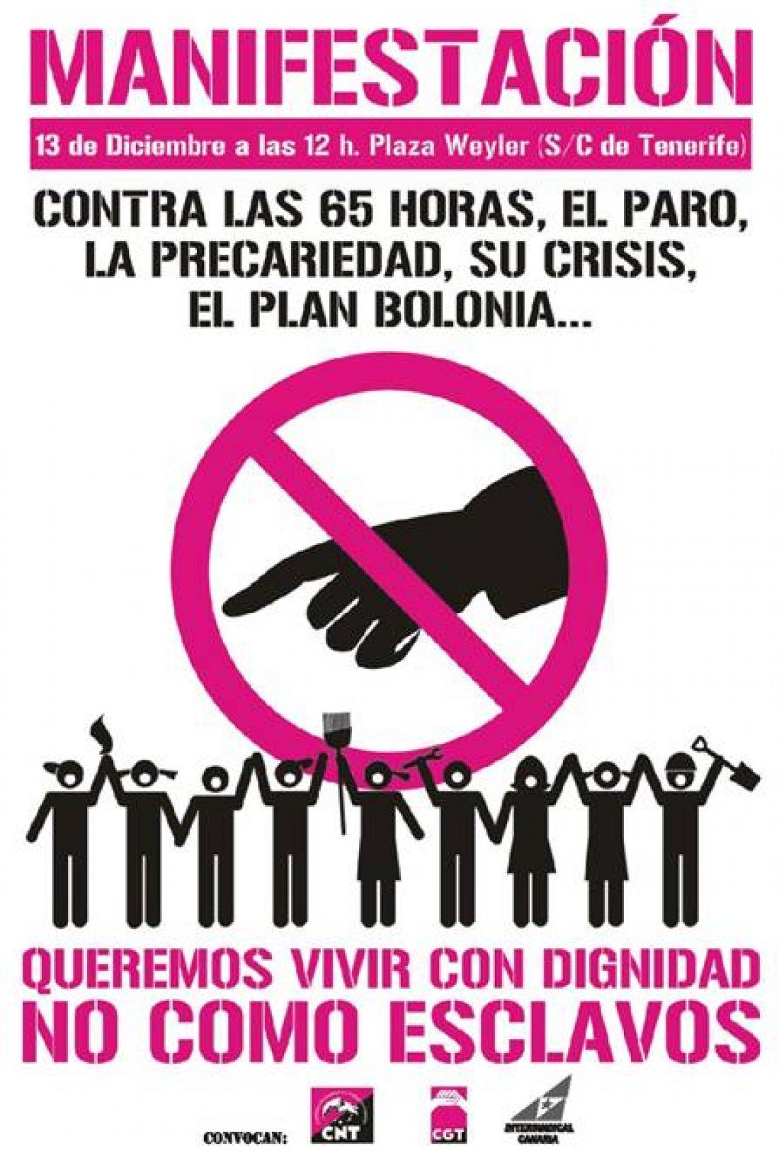 Manifestación «Queremos vivir con dignidad, NO como esclavos»