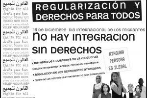 18 de Diciembre – Día Internacional de las Personas Migrantes.  ¡NO HAY INTEGRACIÓN SIN DERECHOS!