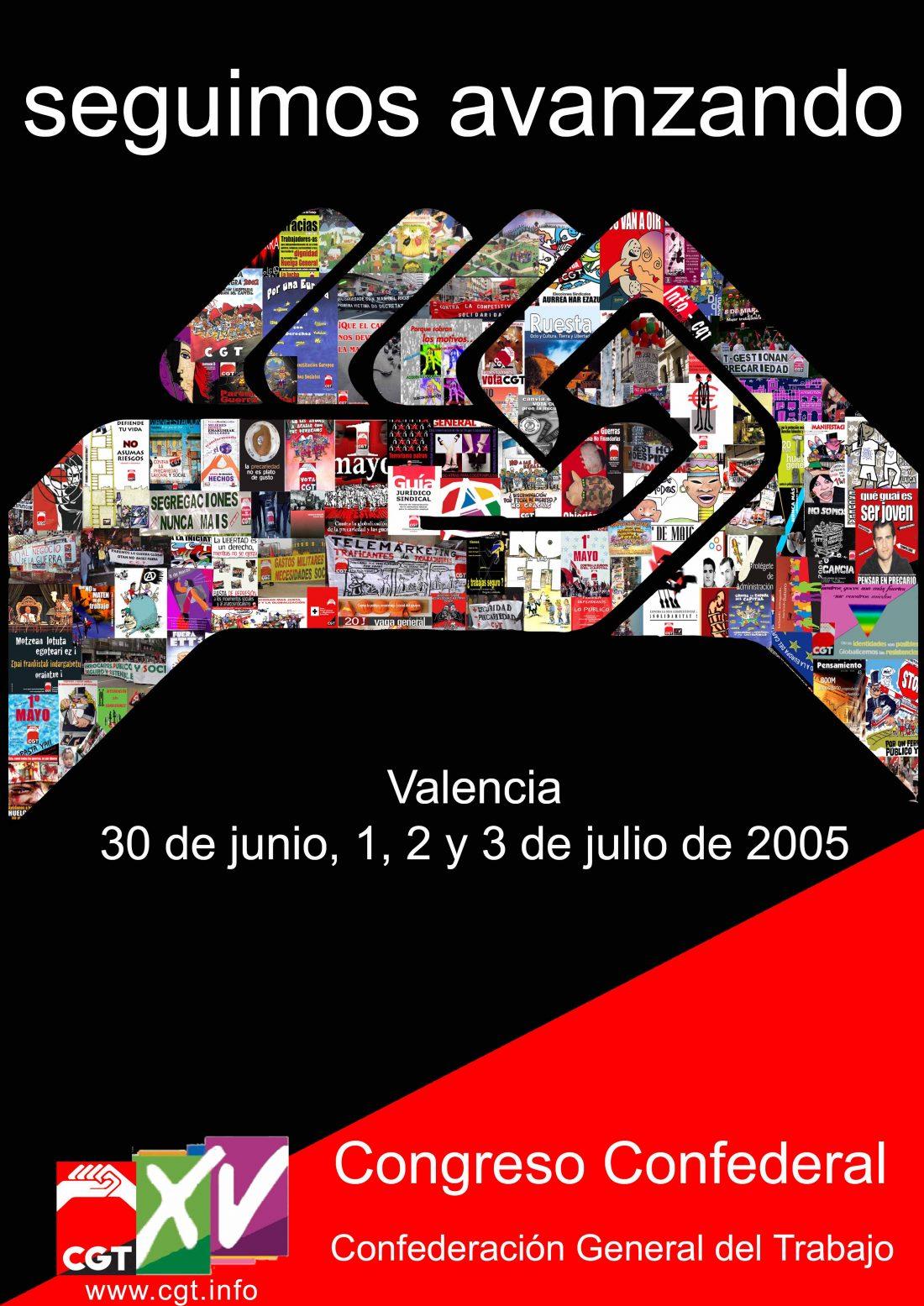 Cartel XV Congreso CGT (Valencia 2005)