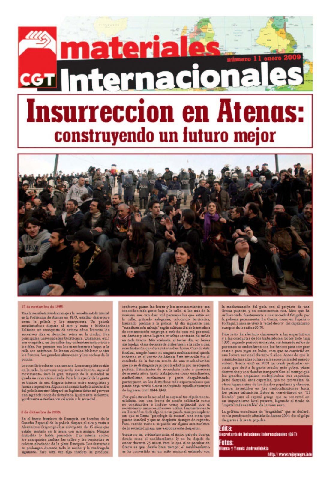 Nº 11. Materiales Internacionales. Enero 2009.