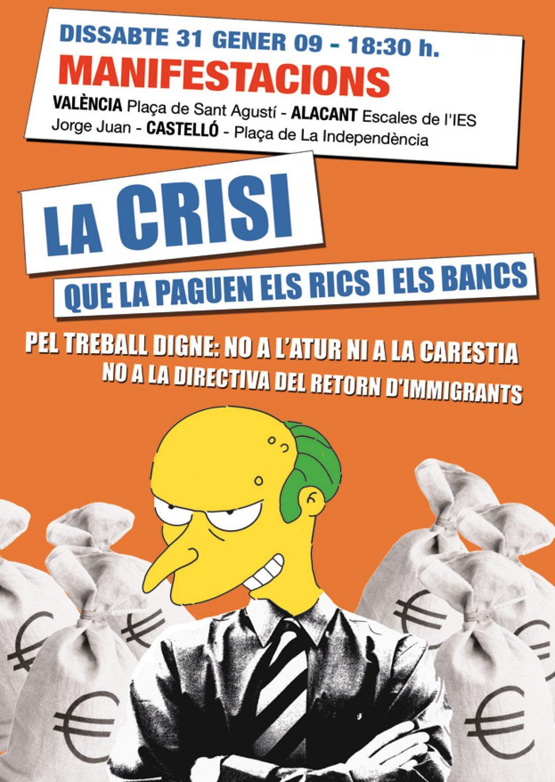 Crónica de la manifestación sobre/contra la crisis en Valencia