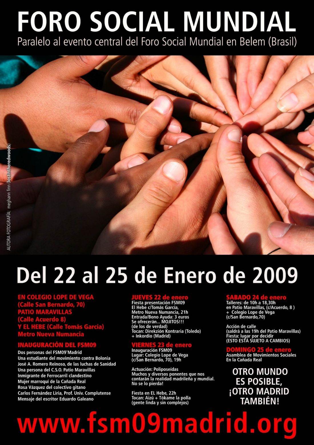 II Foro Social Mundial en Madrid. 23-25 de Enero