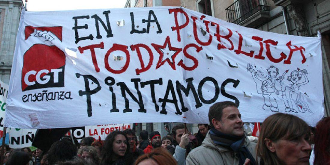 Celebrada la manifestación por una educación pública y social