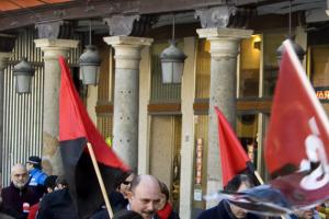 Manifestación en contra del cierre/deslocalización de SITEL-ONO Valladolid