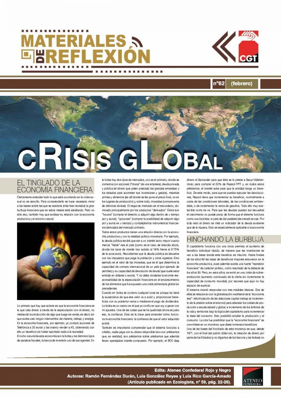 MR 62. «Crisis Global»