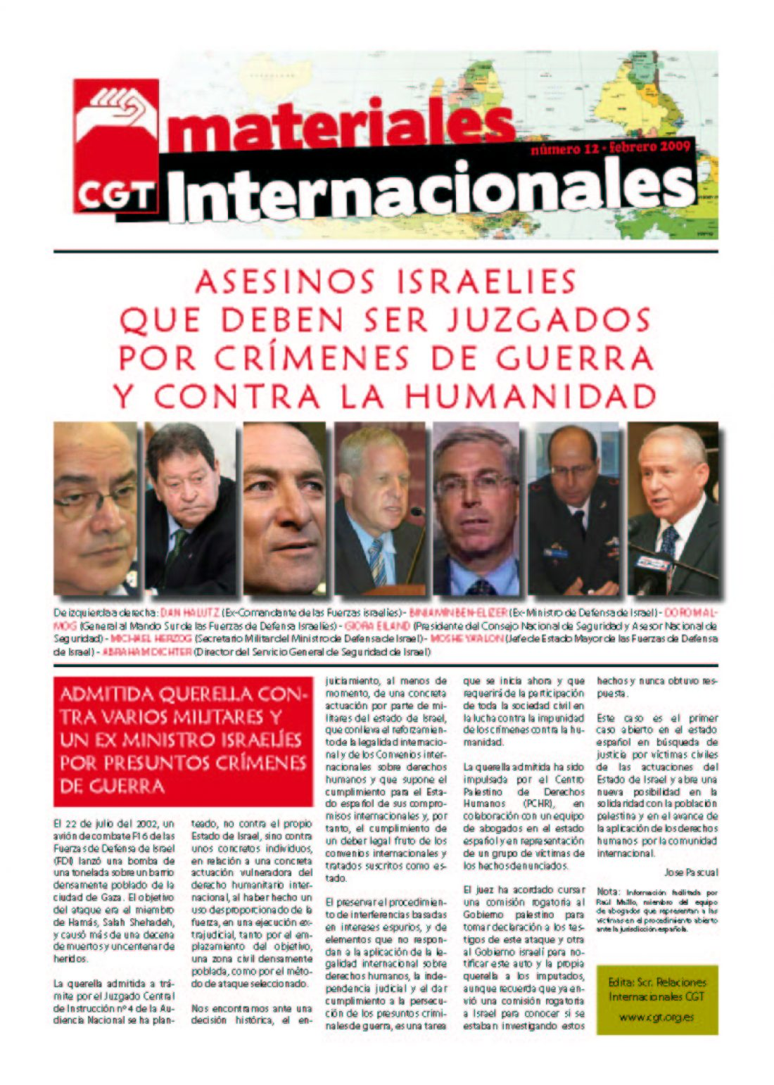Nº 12. Materiales Internacionales. Febrero 2009.