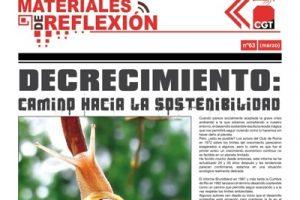 MR 63. «Decrecimiento:  camino hacia la sostenibilidad»