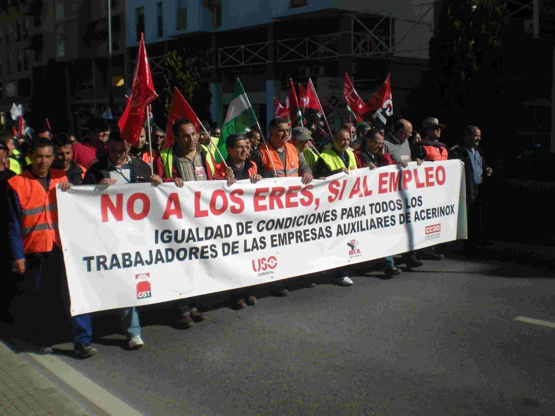 El Campo de Gibraltar en lucha: CGT ante el ERTE de Acerinox