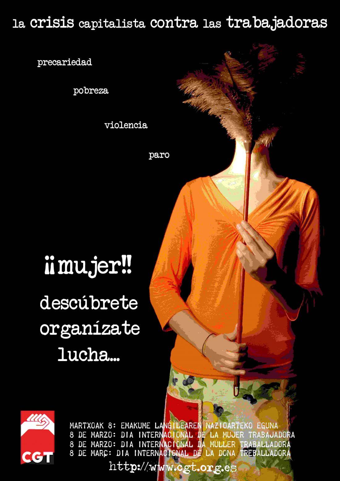 8 de Marzo: Actos, acciones, exposiciones…. Mujer: Descúbrete, Organízate y Lucha!