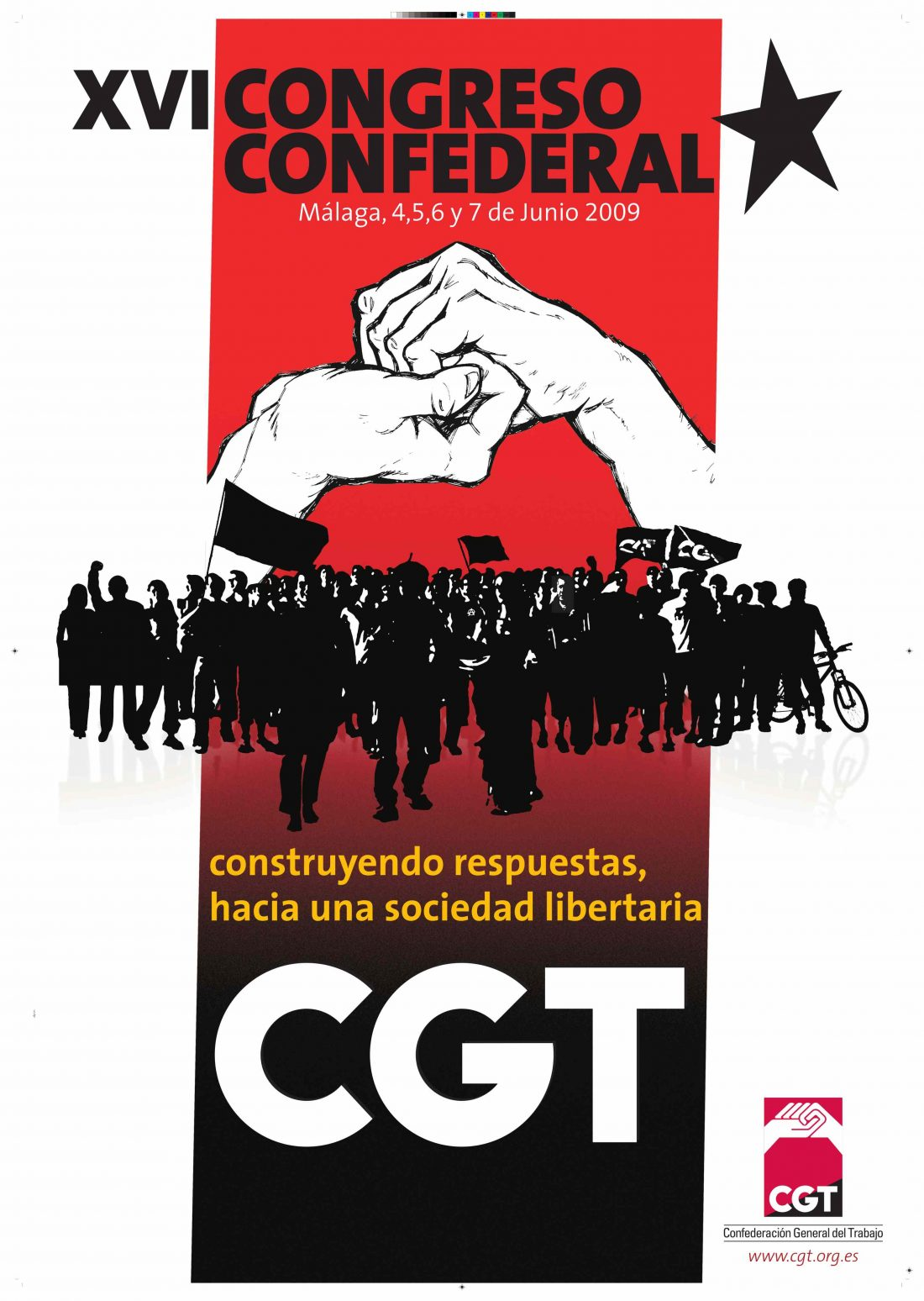 Cartel y logo del XVI Congreso de la CGT