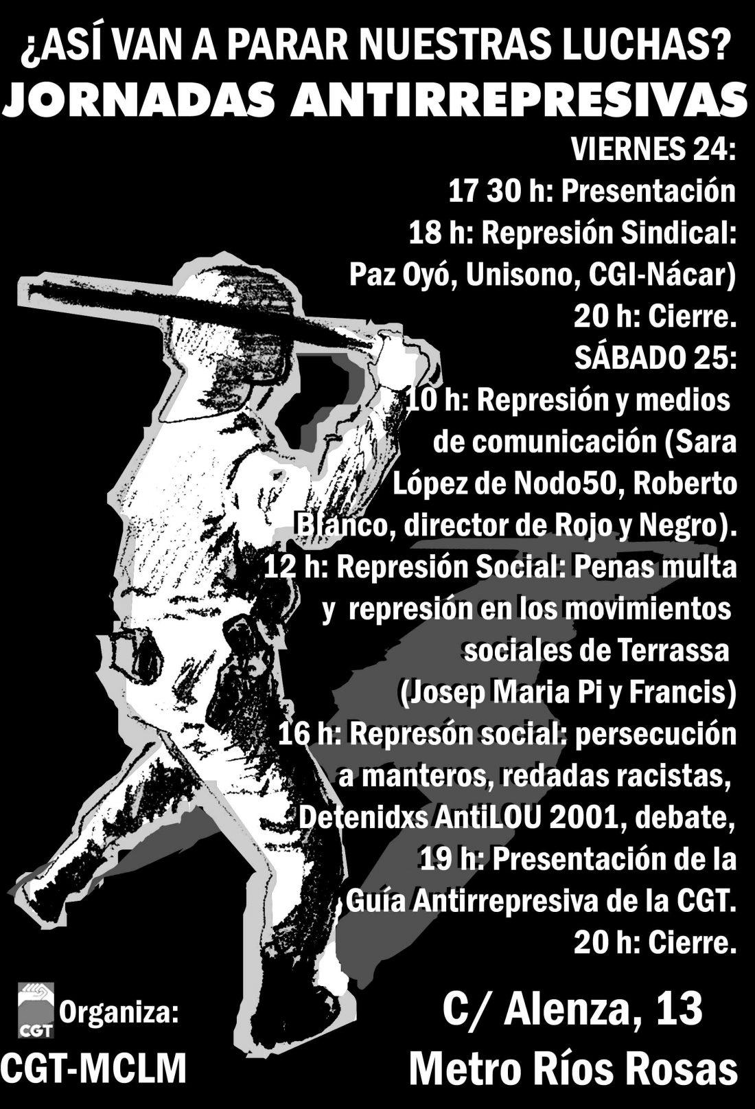 CGT Madrid-Castilla La Mancha: Encuentro Antirrepresivo