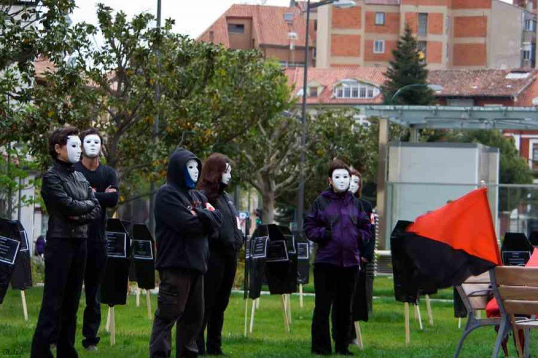 Acción en Valladolid contra los accidentes laborales.