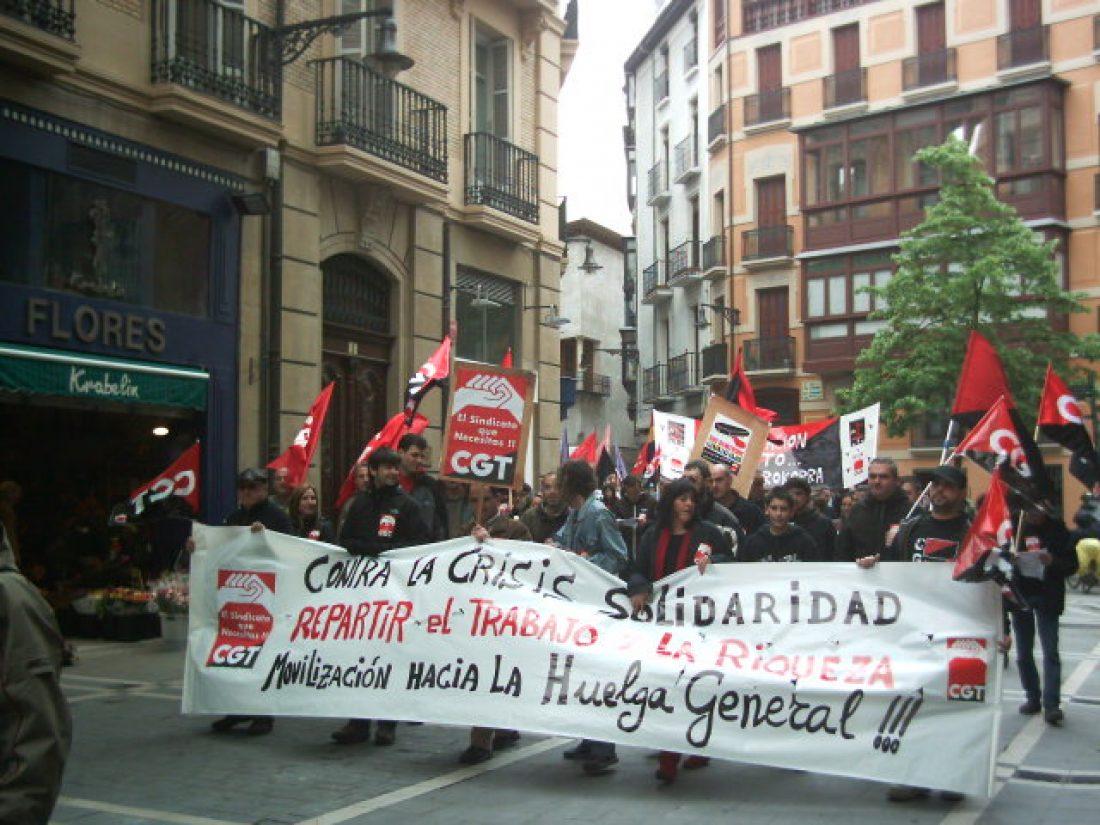 Hacia la HUELGA GENERAL: Crónicas y fotos de CGT en este Primero de Mayo