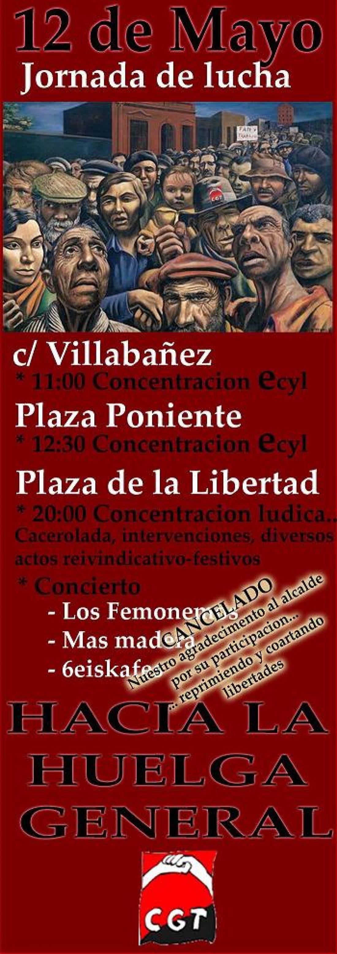 12 de Mayo: Jornada de Lucha en Valladolid