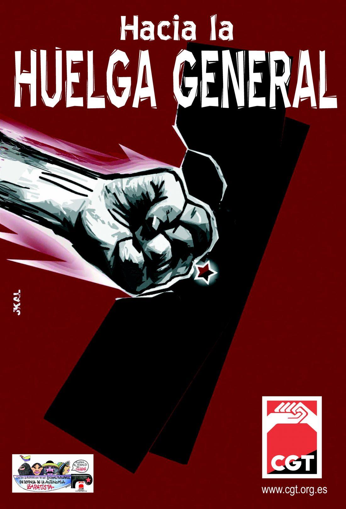 ¡En CGT la lucha continúa! ¡Hacia la huelga general!