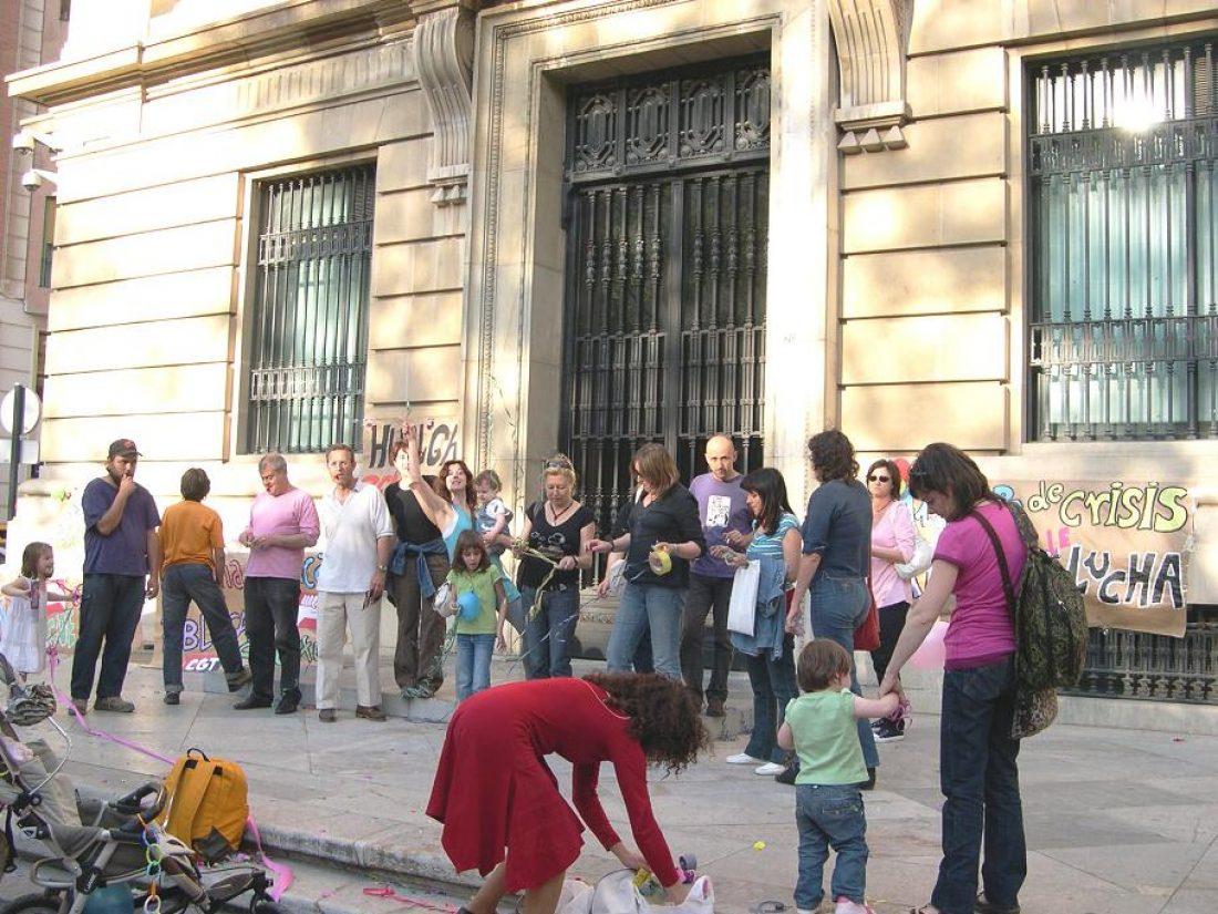 Acto de Protesta en Murcia: Contra la crisis y hacia la Huelga General