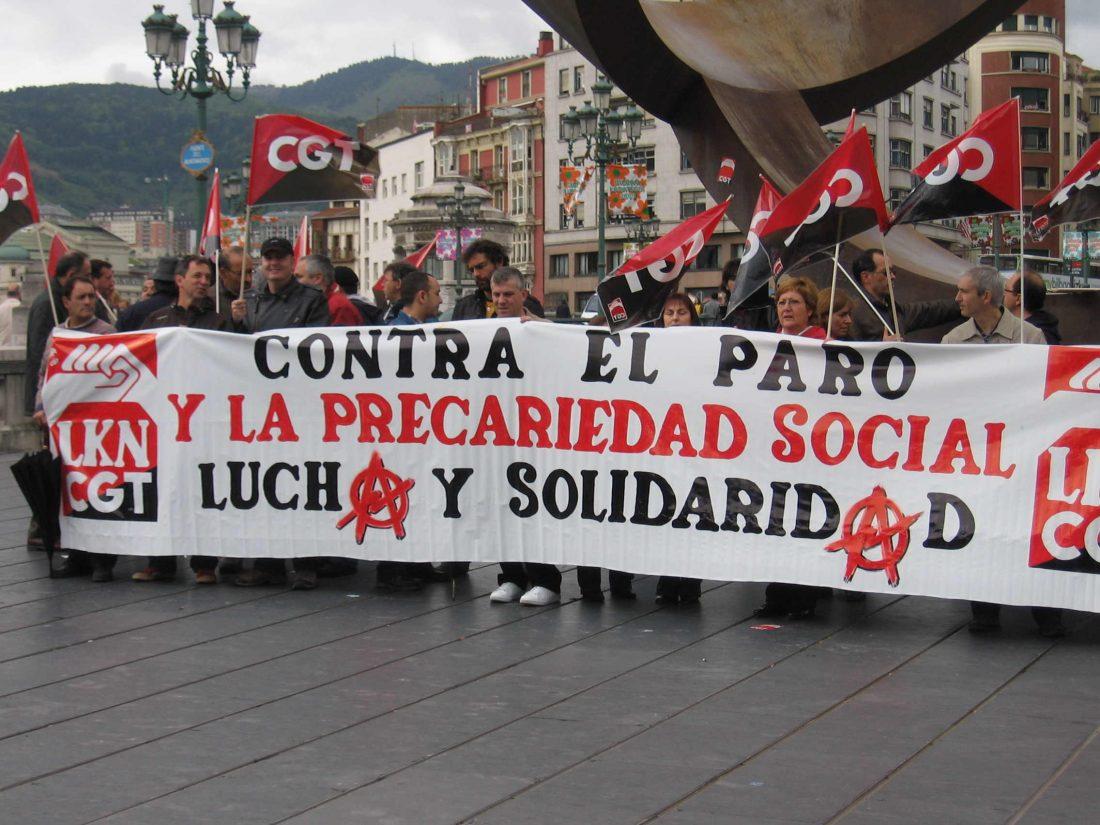 Concentración de CGT Bilbao: Contra el paro y la precariedad social
