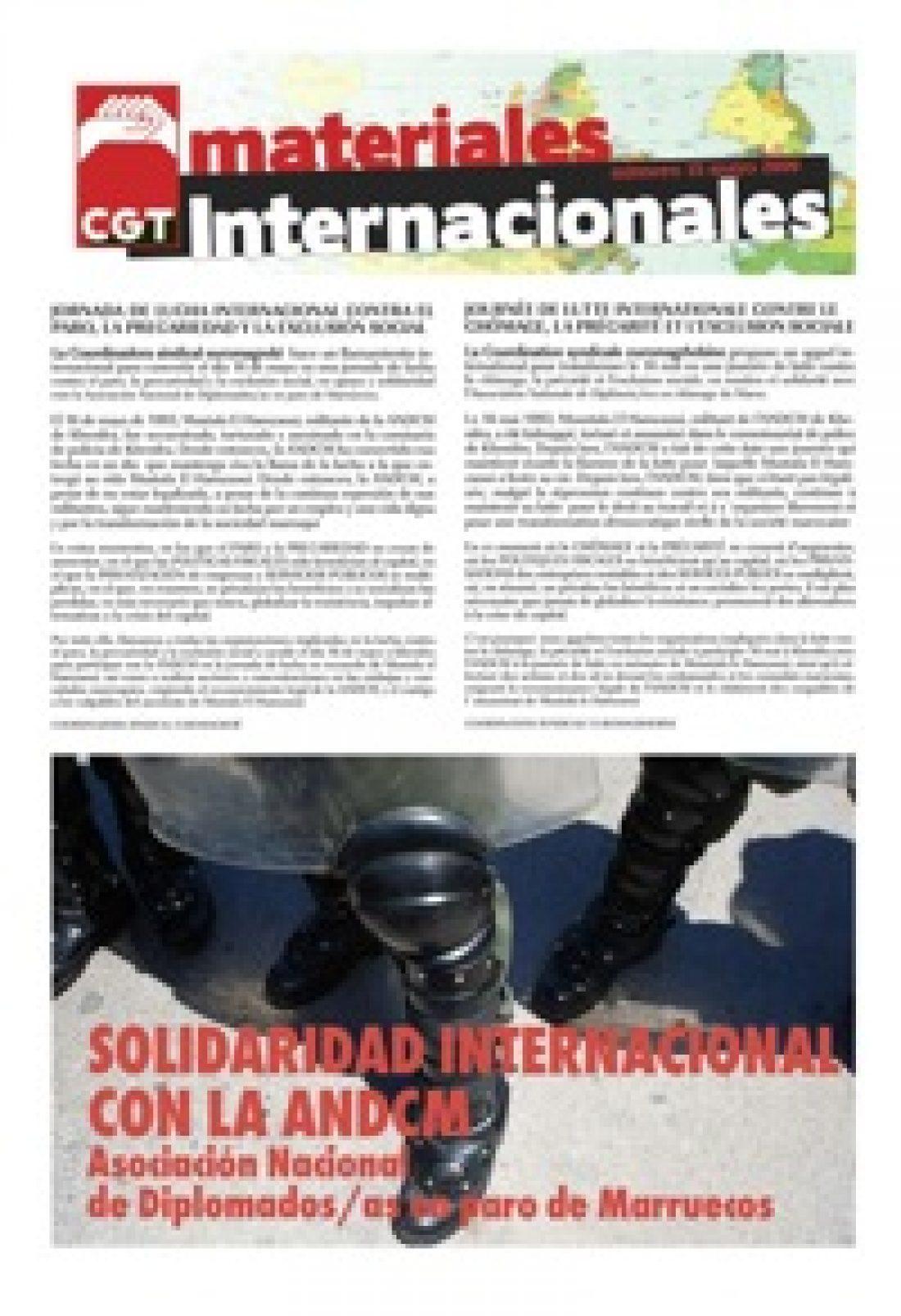 Nº 15. Materiales Internacionales. Mayo de 2009