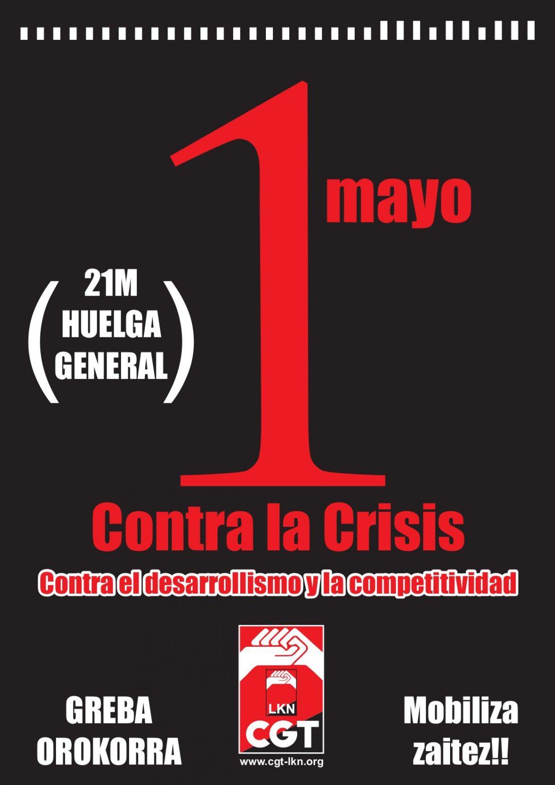 21 de Mayo: Huelga General en Nafarroa