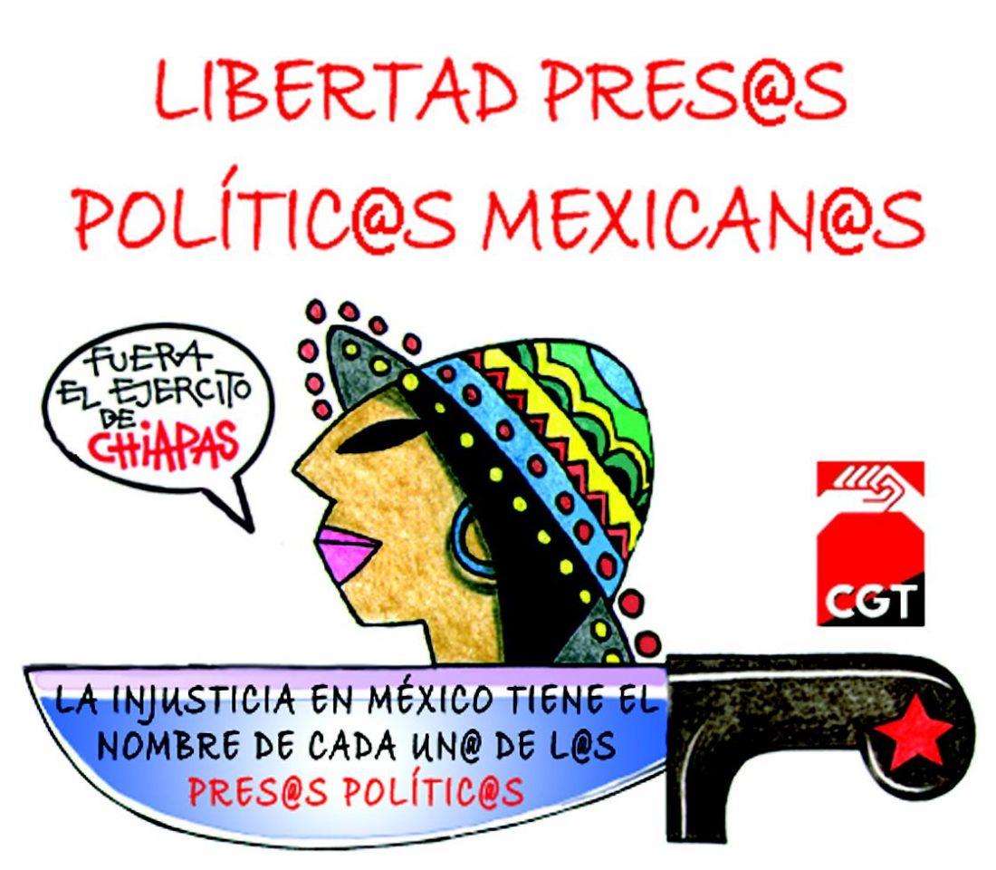 La CGT sale a la calle para exigir la inmediata puesta en libertad de los y las presas políticas mexicanas