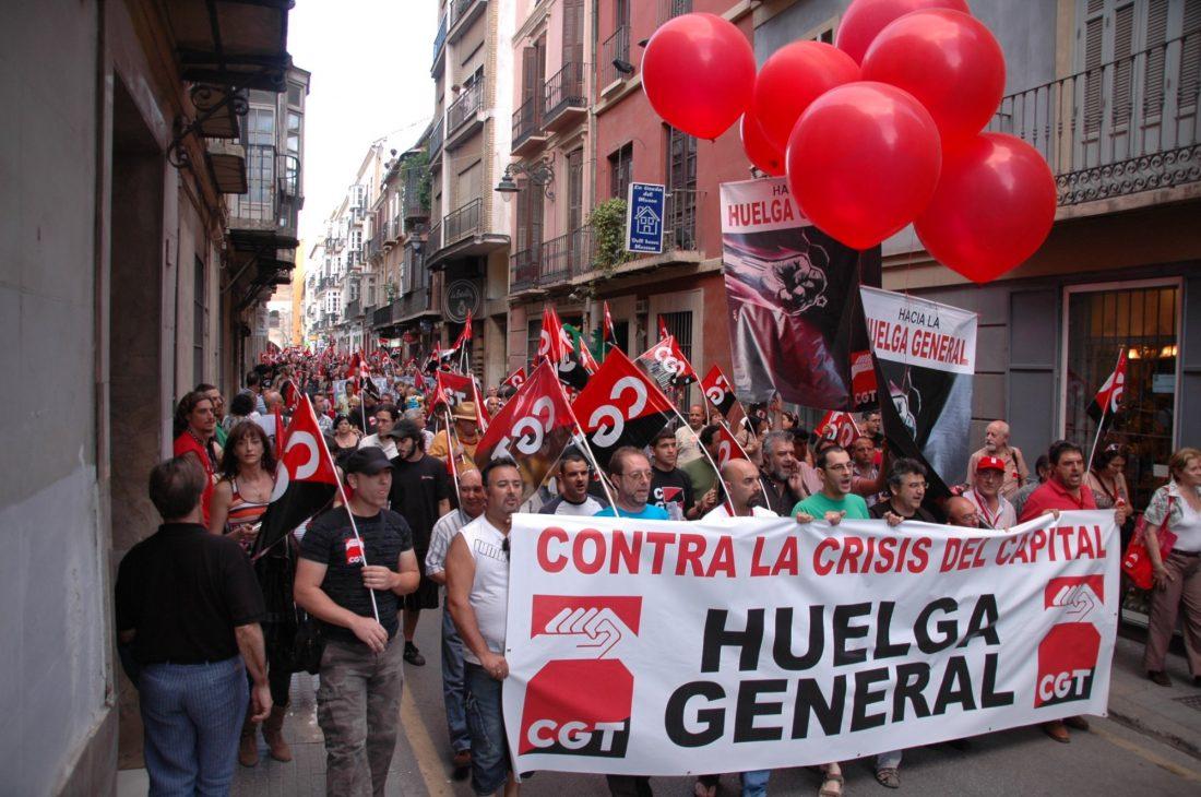 Algunas imágenes de la manifestación de CGT en Málaga (5/VI/2009)