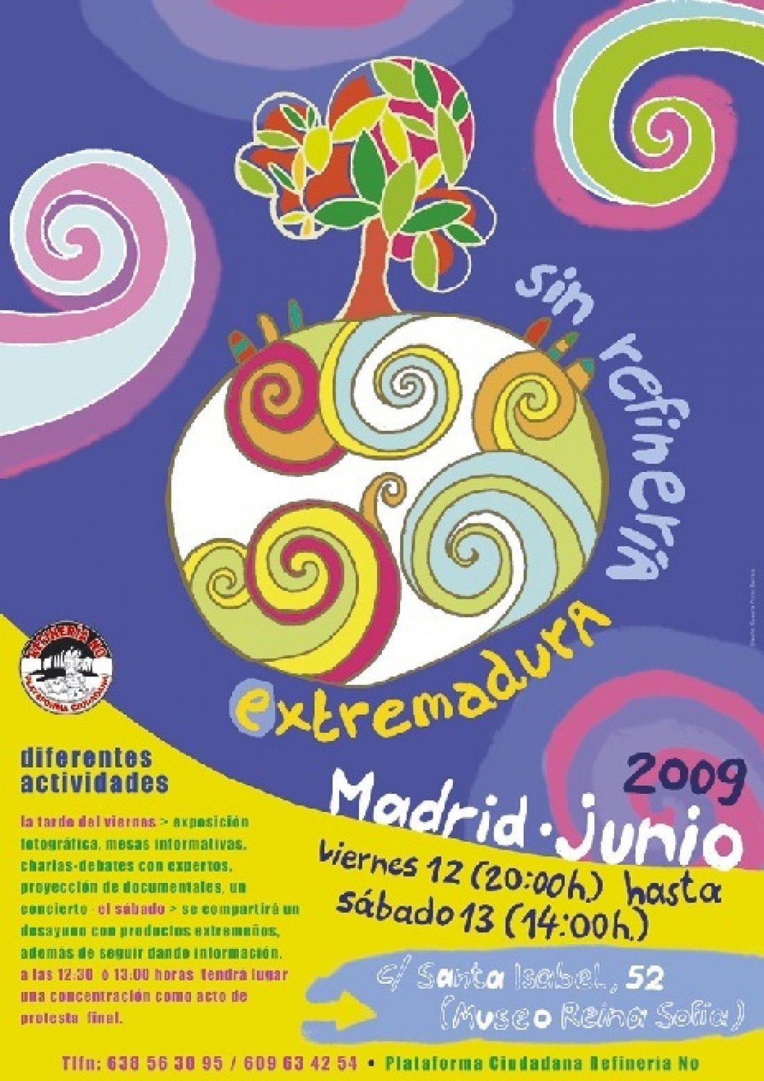 Llega a Madrid la lucha contra una refineria en Extremadura