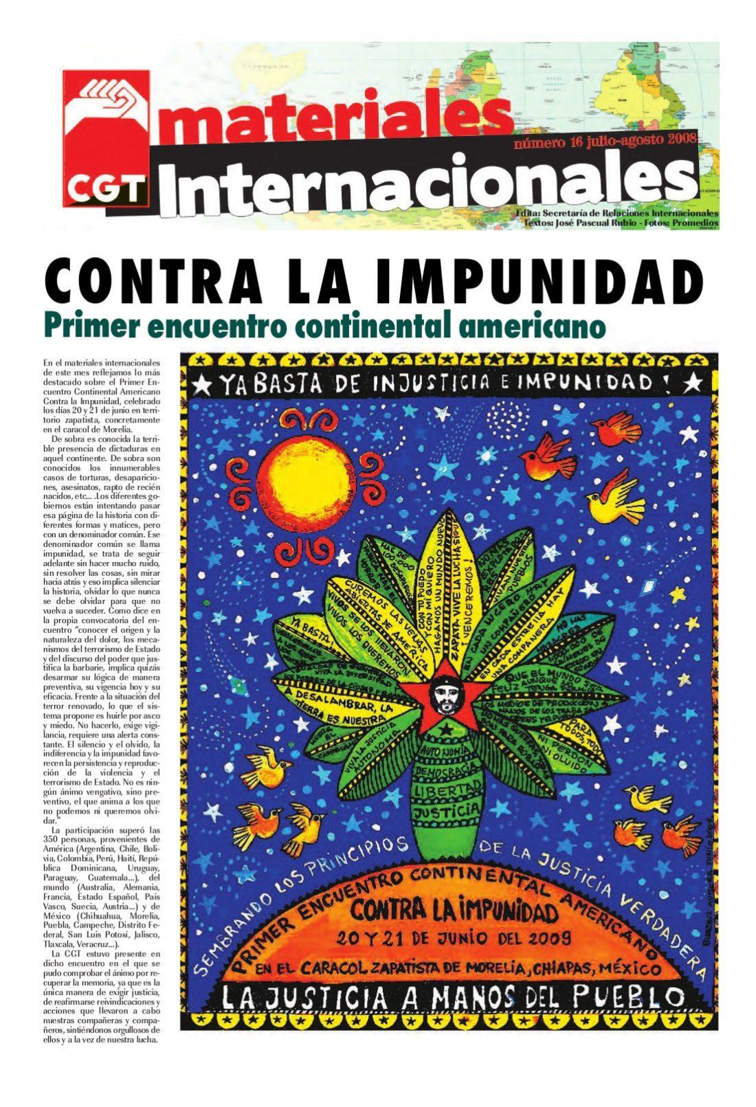 Nº 16. Materiales Internacionales. Julio-Agosto de 2009