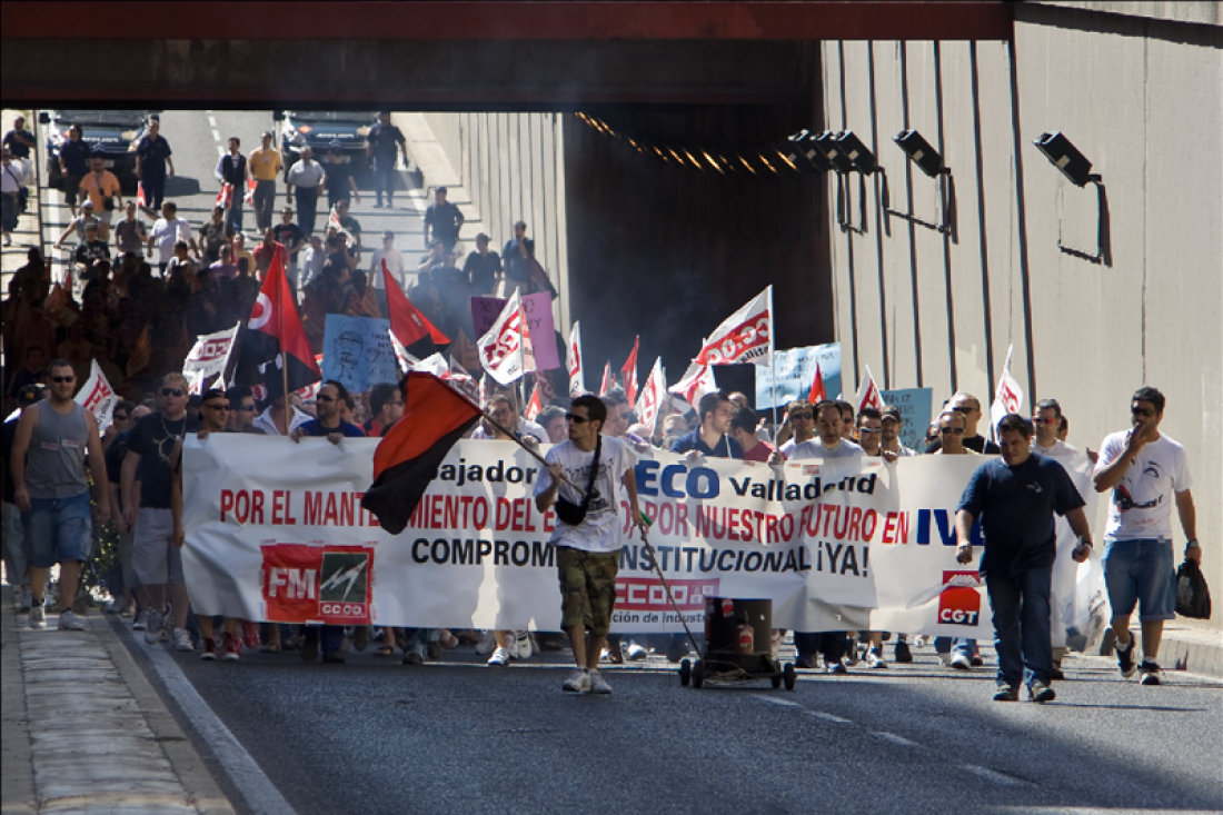 Gran participación en la huelga y manifestación de los trabajadores de IVECO Valladolid