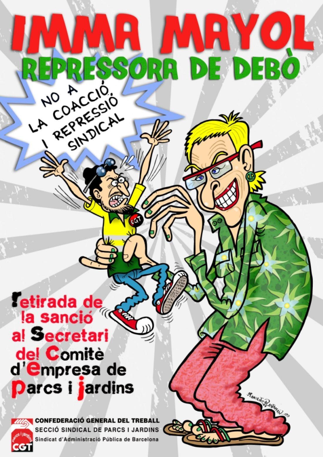 23 de julio: Concentración en Barcelona por la sanción a un compañero de Parcs i Jardins