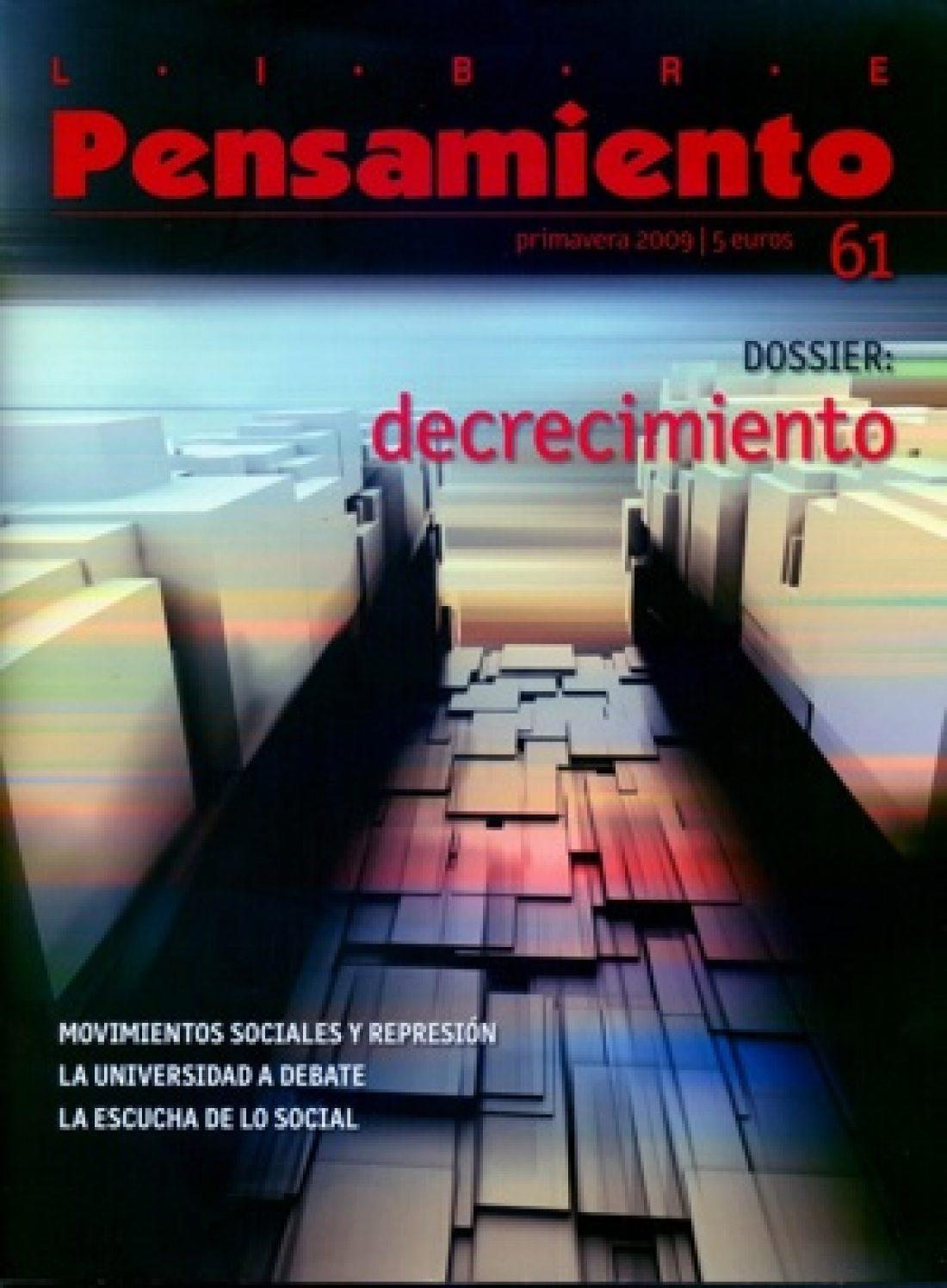 Libre Pensamiento nº 61 – Primavera 2009
