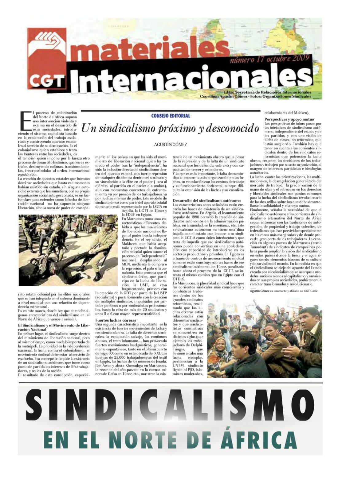 Nº 17. Materiales Internacionales. Octubre 2009