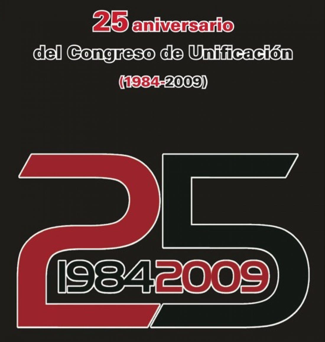 Editado el libro «25 Aniversario del Congreso de Unificación (1984-2009)»