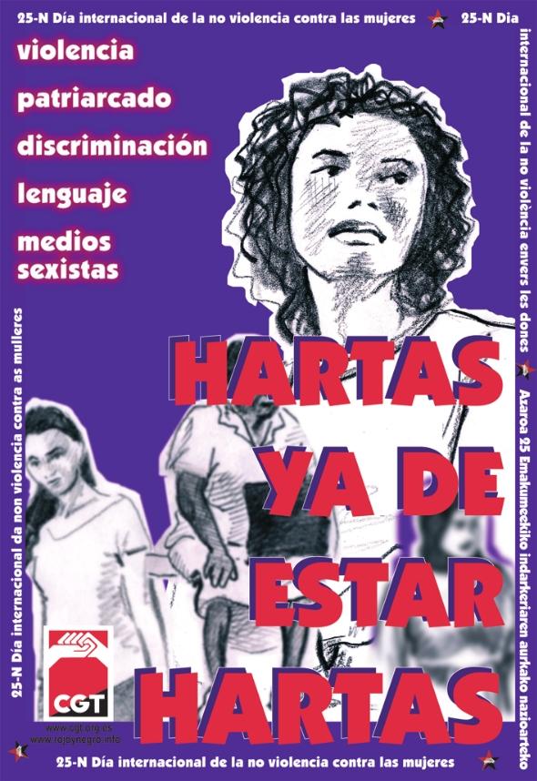 25 de Noviembre: Día internacional de la no-violencia contra las mujeres. «HARTAS YA DE ESTAR HARTAS!»