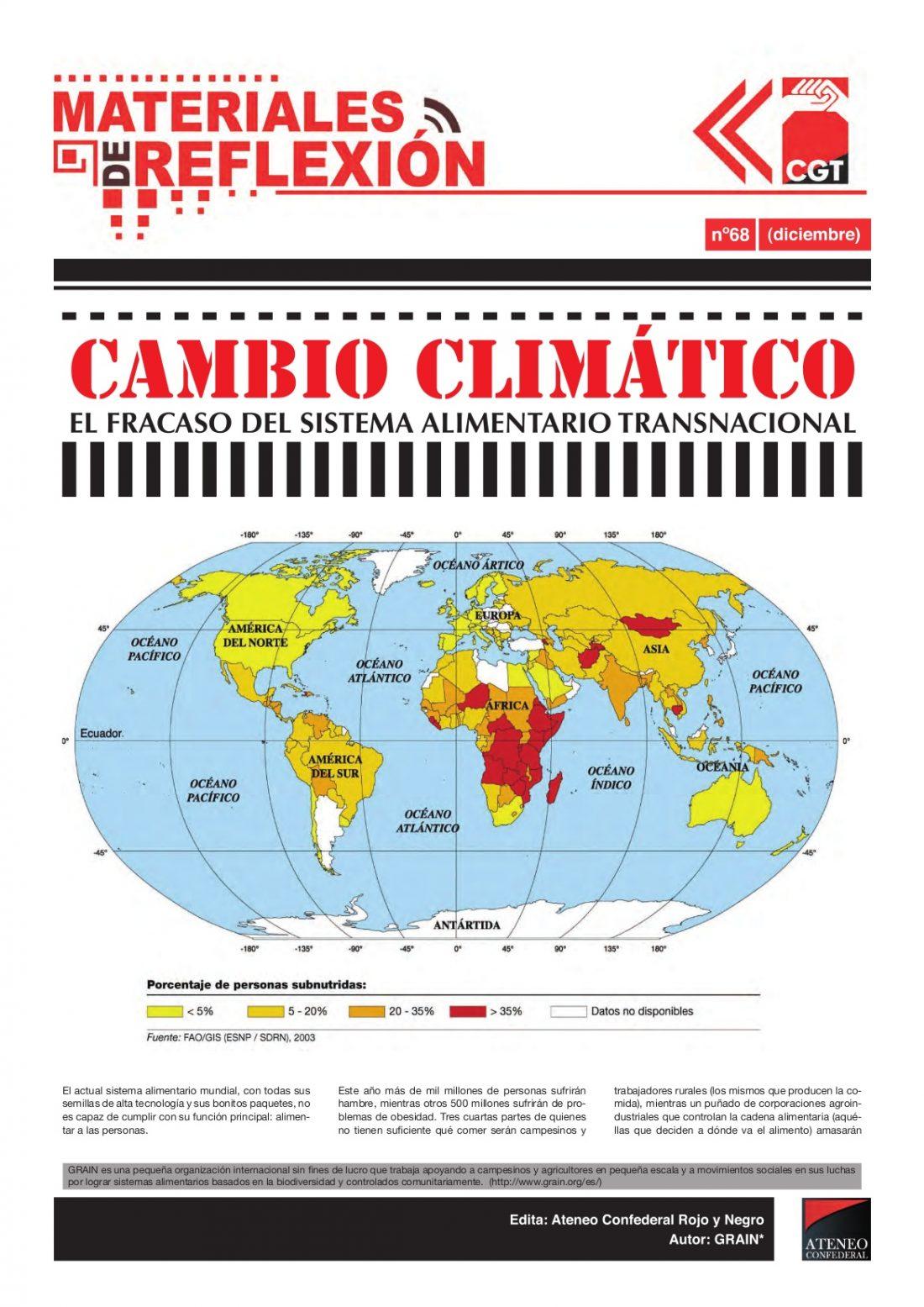 MR nº 68. Diciembre 2009. «Cambio climático: el fracaso del sistema alimentario transnacional»