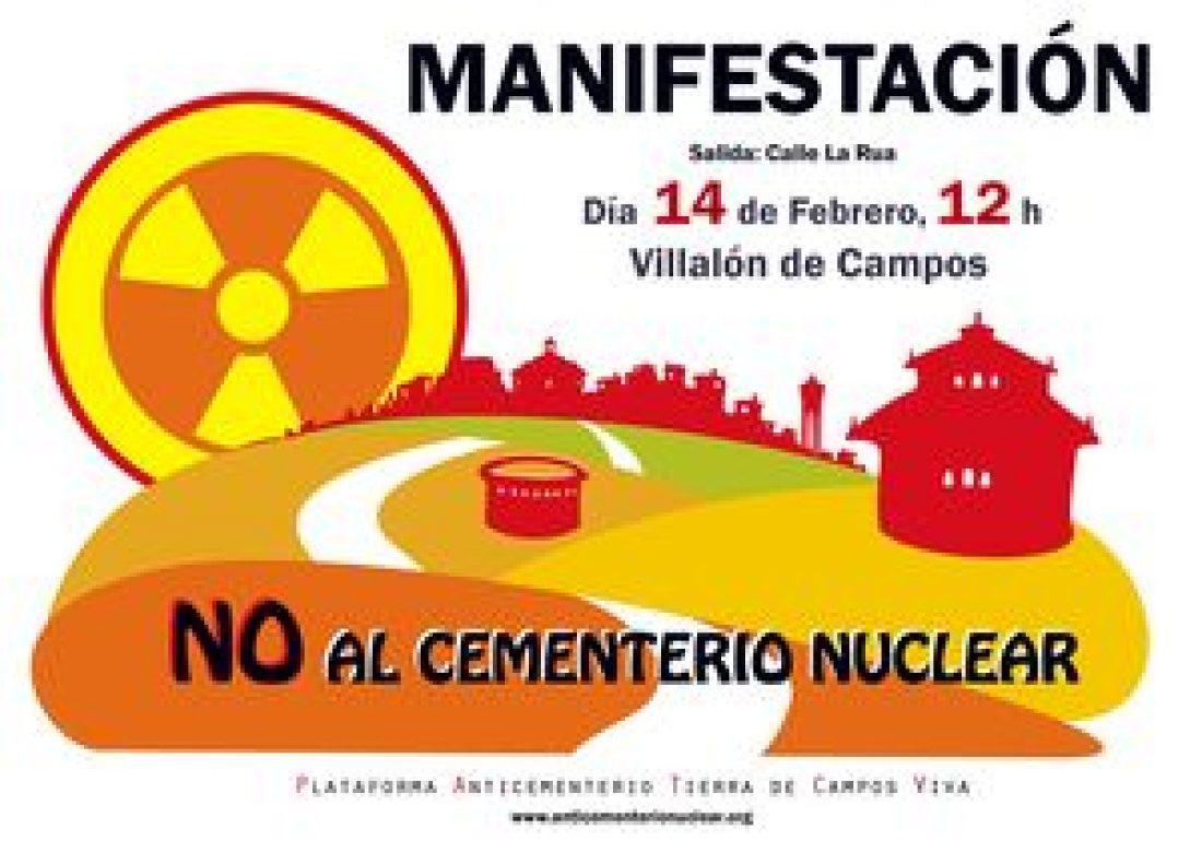 14 de Febrero: Manifestación contra la energía y el cementerio nuclear en Villalón (Valladolid)