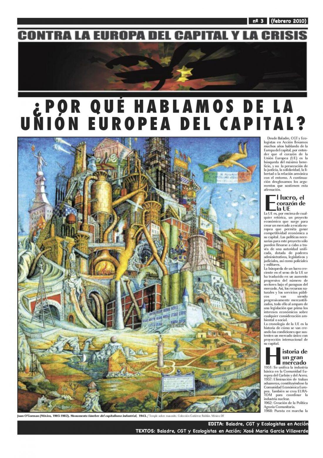 Contra la Europa del Capital: ¿Por qué hablamos de la U.€. del capital?