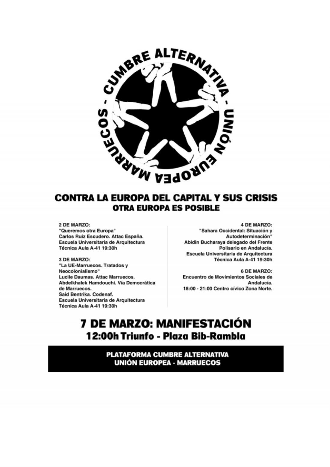 Granada, del 2 al 6 de Marzo: Cumbre alternativa UE-Mahgreb