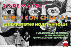 Tenerife, 20 de Marzo: Concentración contra la militarización de Chiapas.