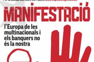25 marzo, Valencia: Manifestación «La Europa de las multinacionales y los banqueros no es la nuestra»