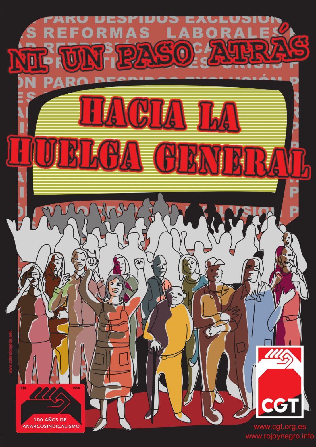 CGT reafirma su compromiso con la Huelga General, social y laboral, en confluencia con otras organizaciones