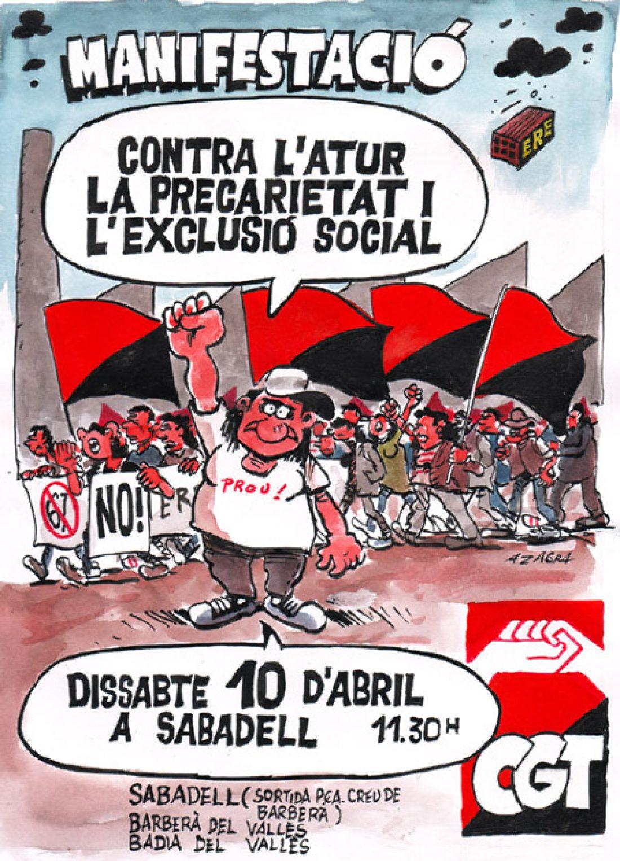 Sabadell, 10 de Abril: Gran Manifestación convocada por CGT Catalunya