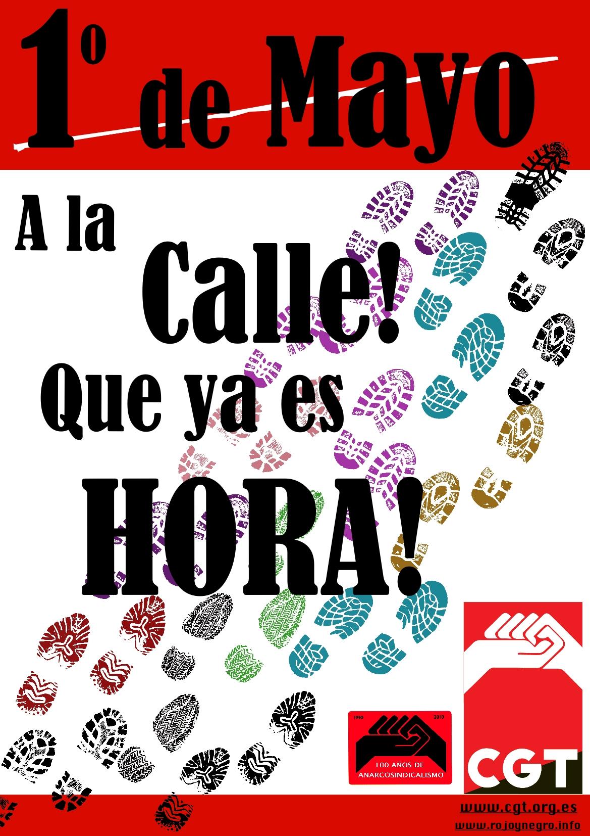1º de Mayo de 2010: ¡¡A la calle, que ya es hora!!