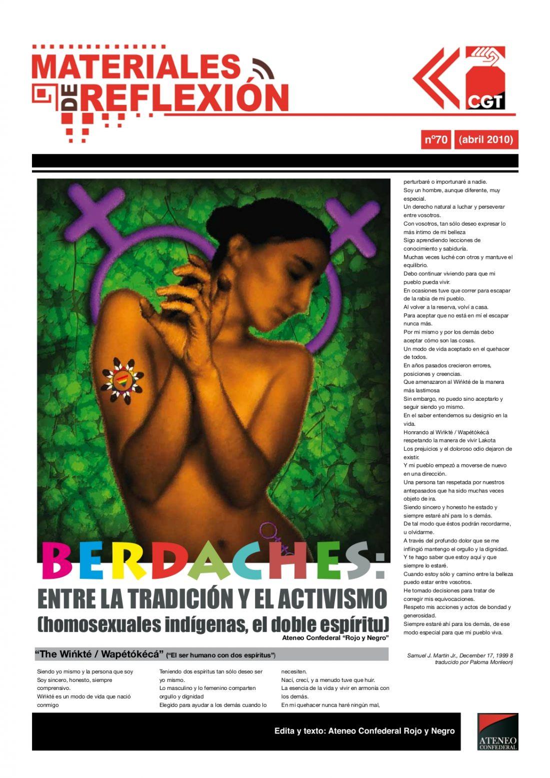 MR nº 70. Abril de 2010. «Berdaches: entre la tradición y el activismo»