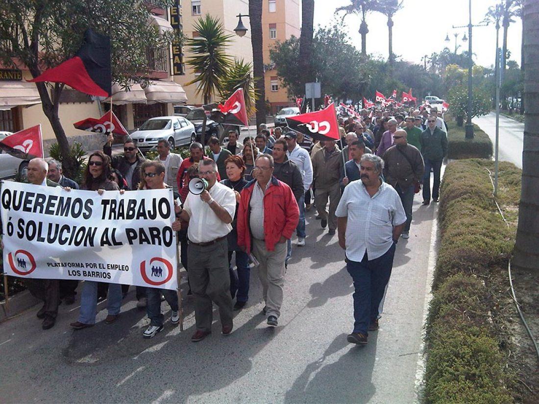 Los Barrios (Campo de Gibraltar): 500 personas se manifiestan contra el paro y la crisis