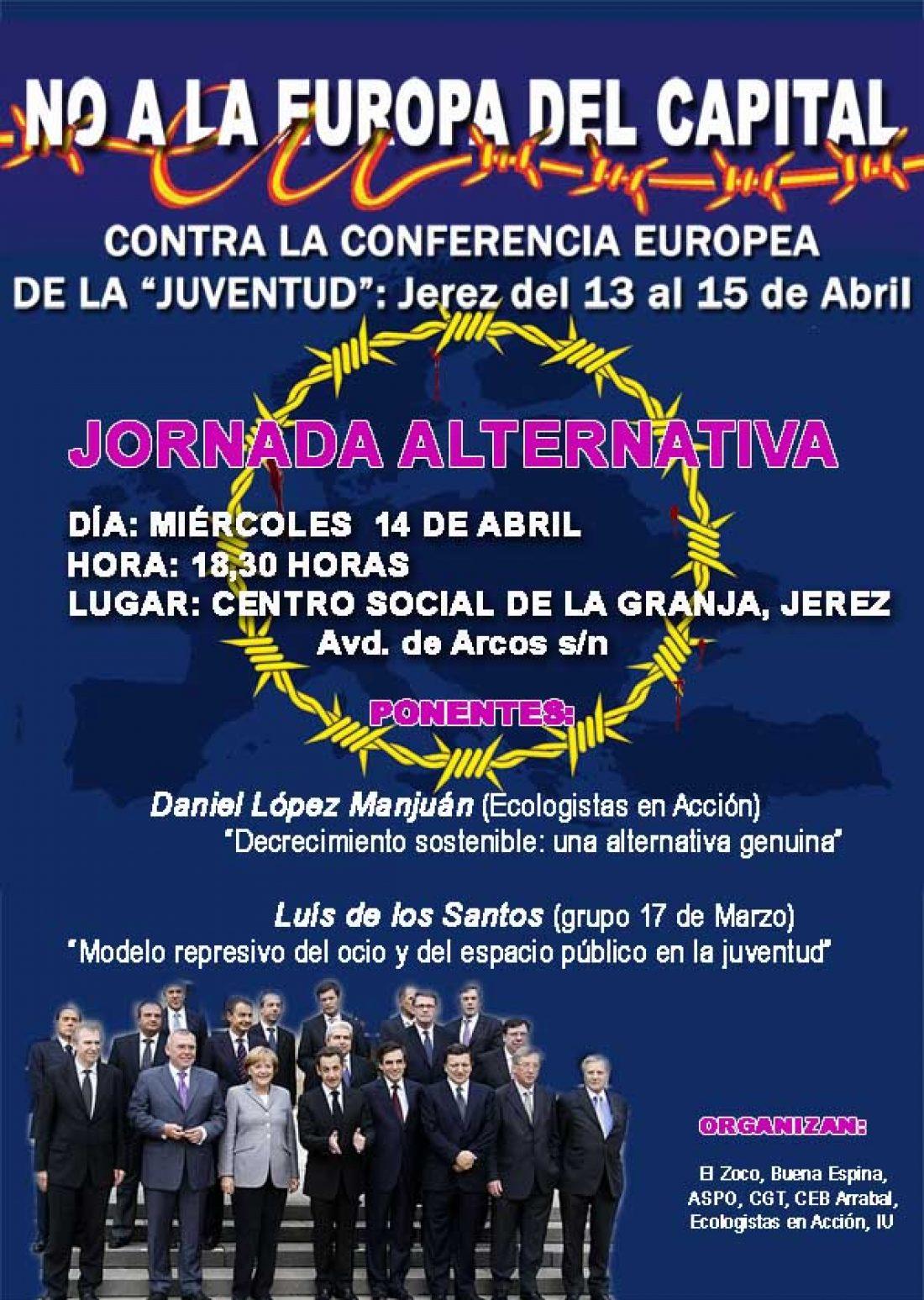 Jerez, 14 de Abril: Jornada Alternativa contra la conferencia europea de la «Juventud»