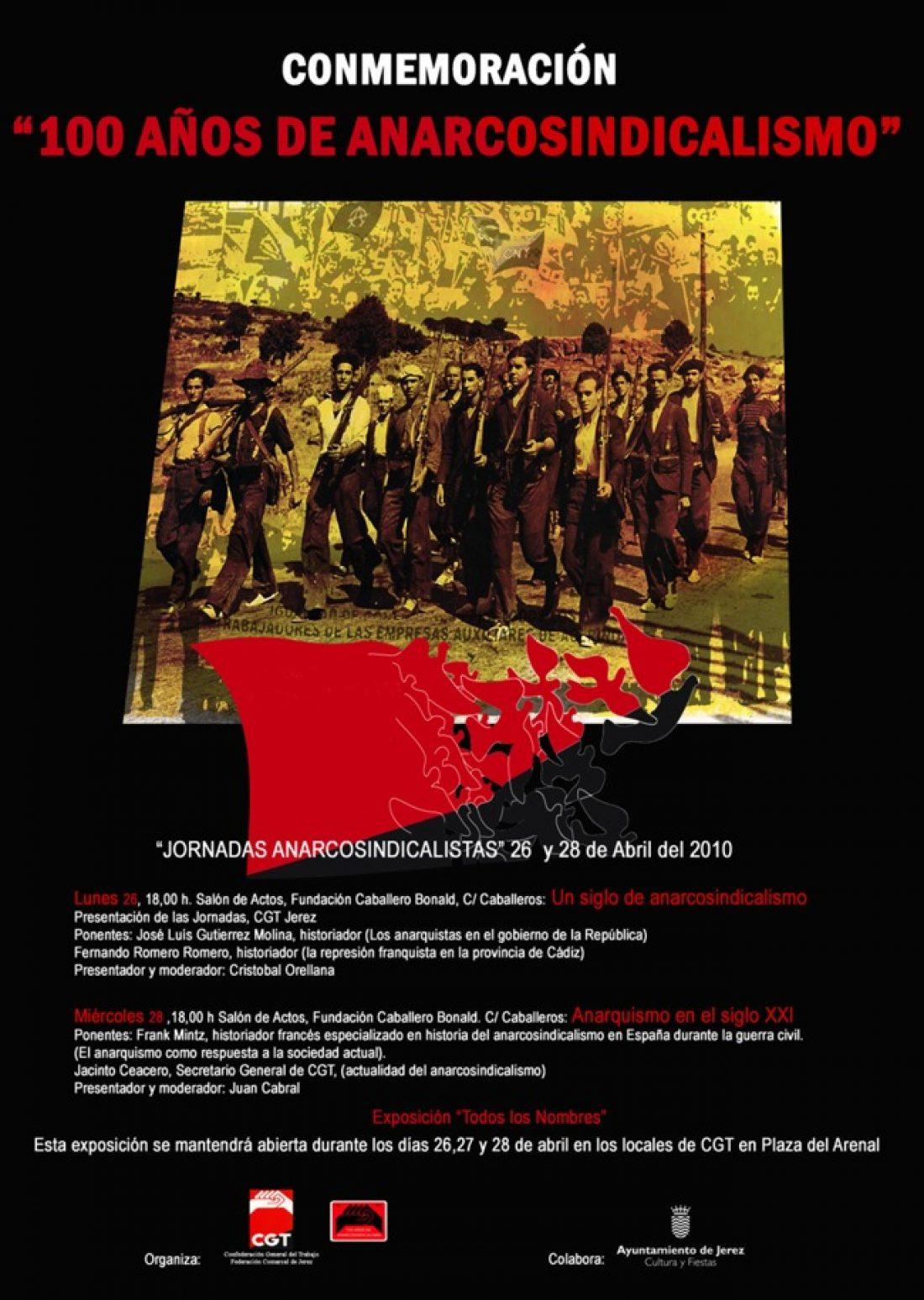 100 años de Anarcosindicalismo en Jerez: «Jornadas Anarcosindicalistas» (26 y 28 abril)