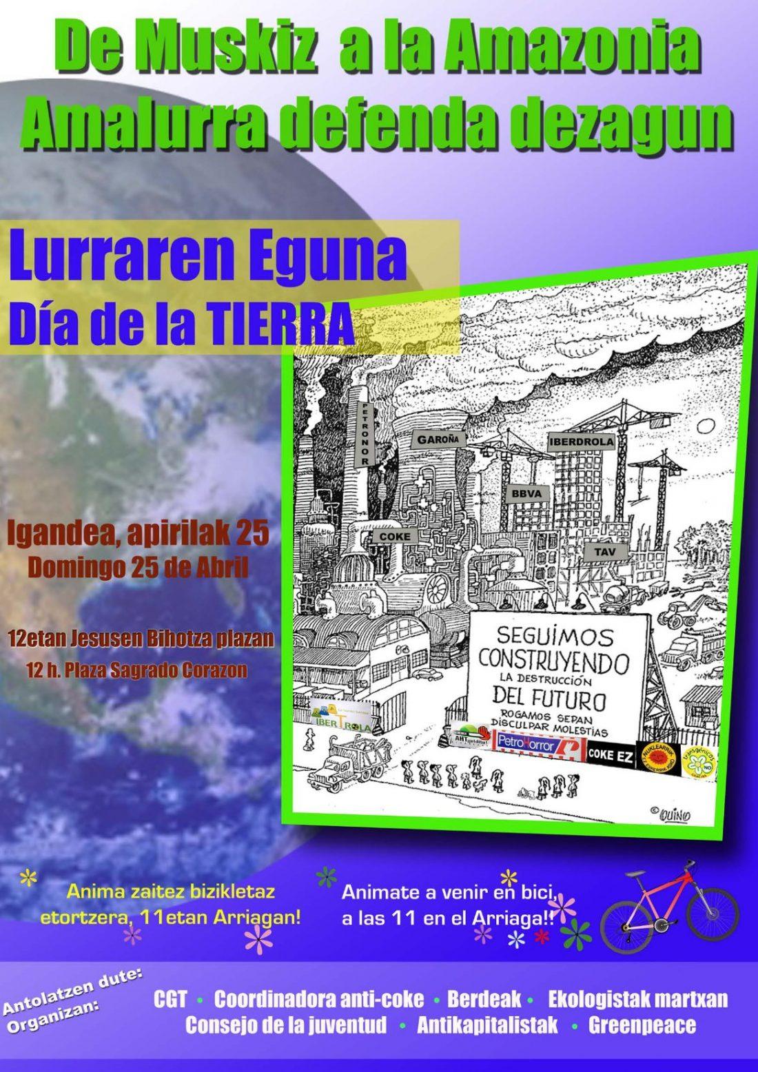 Bilbao, 25 de Abril: Manifestación contra Petronor y su contaminación