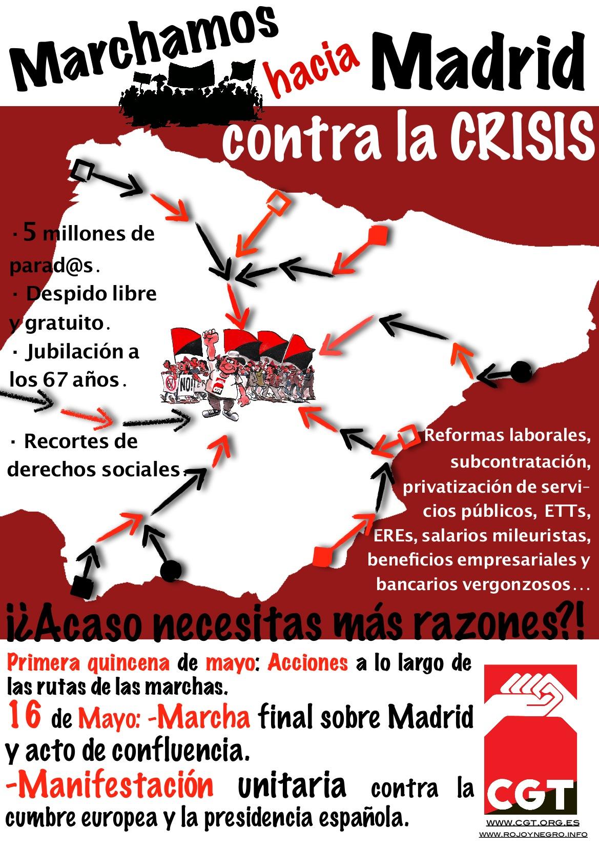 Del 1 al 16 de Mayo: CGT se pone en marcha contra la crisis